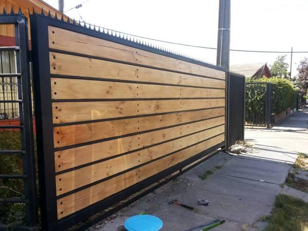 Foto port n en fierro y madera terminado de cons agro ingenieria ltda 86897 habitissimo - Rejas de madera ...