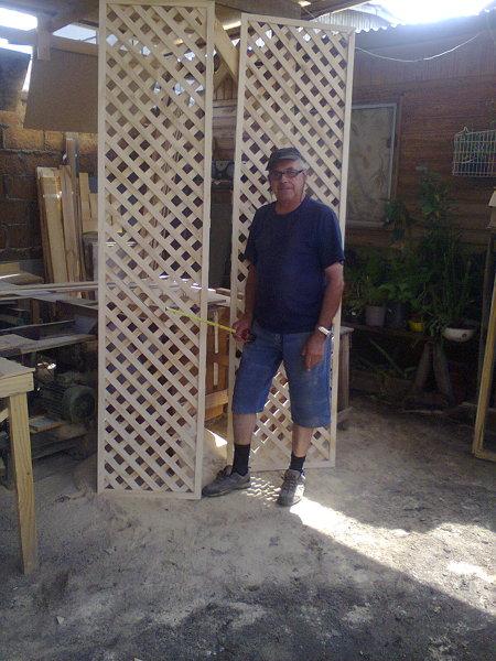 Foto treillaje para levantamiento de muros en 45 grados for Escaleras 45 grados