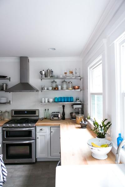 Foto cocina con encimera de madera 126183 habitissimo - Cocinas con encimera de madera ...