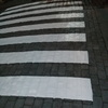 acceso peatonal pintado totalmente