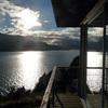 Cabaña-Mirador en el Lago Rupanco- Vista terraza