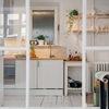 Cocina con puertas de vidrio