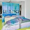 Dormitorio con piso de resina