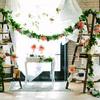 escaleras flores