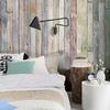 Muro de madera en color pastel