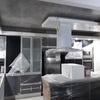 Instalacion de cielo y terminaciones en Marmolite Gris y Blanco