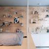 Panel madera en dormitorio
