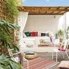 terraza con banco