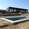 vista terraza y piscina