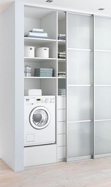 Construcción de espacio para lavadora
