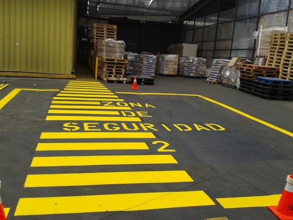 ¿cuál es la normativa para la demarcación de zona de seguridad?