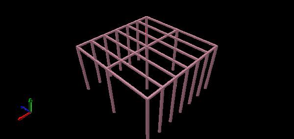 ¿Cuáles son las medidas de pilares para una terraza en altura de 6 x 3 mts?