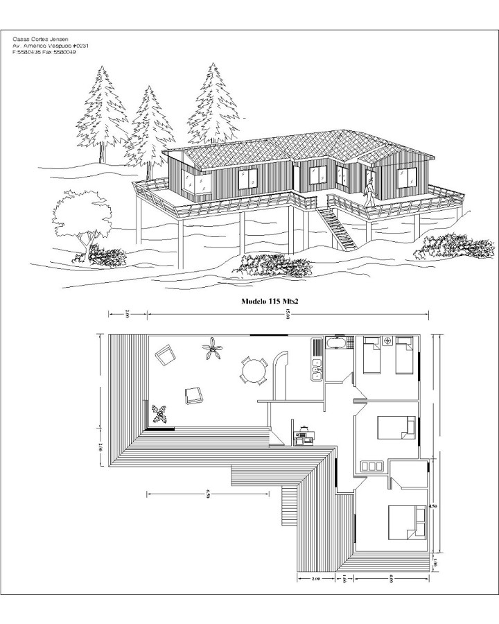Construcci n de casa prefabricada 3 dormitorios macul - Presupuestos construccion casa ...