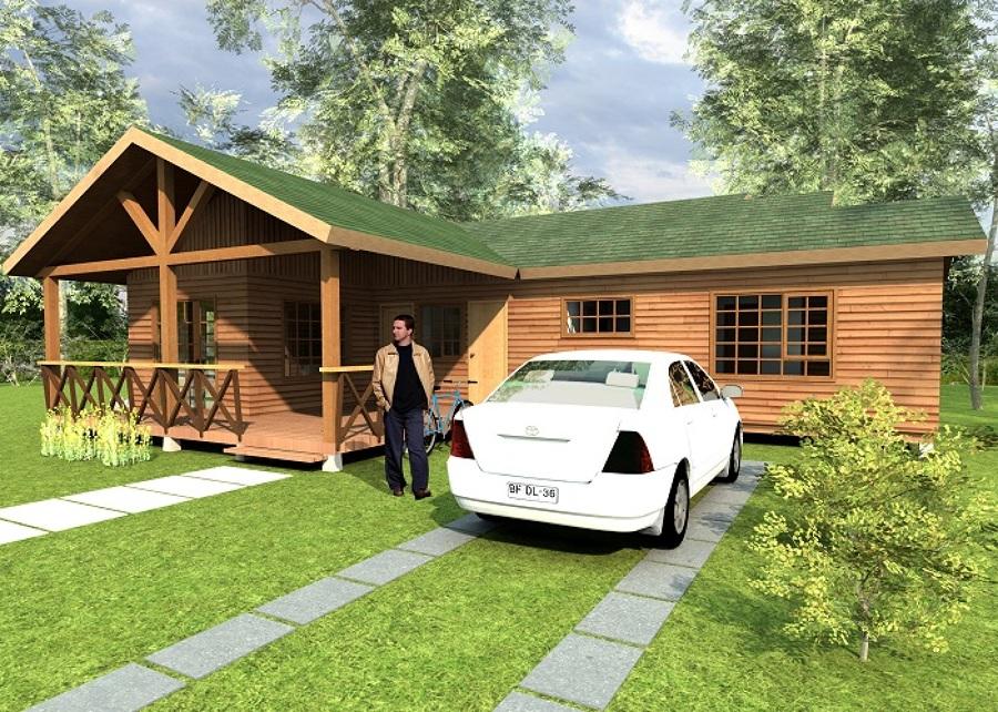 Construcci n de casa prefabricada 3 dormitorios macul - Presupuesto casa prefabricada ...