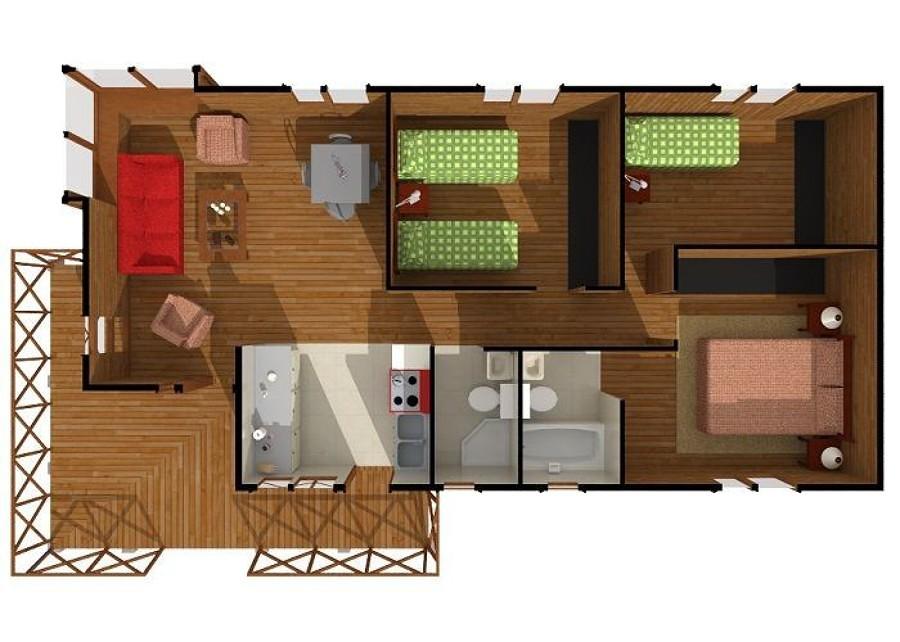 Construir casa prefabricada 77 a 83 metros cuadrados for Construccion de casas en terrazas