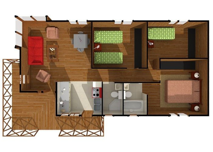 Construcci n casa panguipulli regi n xiv los r os for Construccion de casas en terrazas