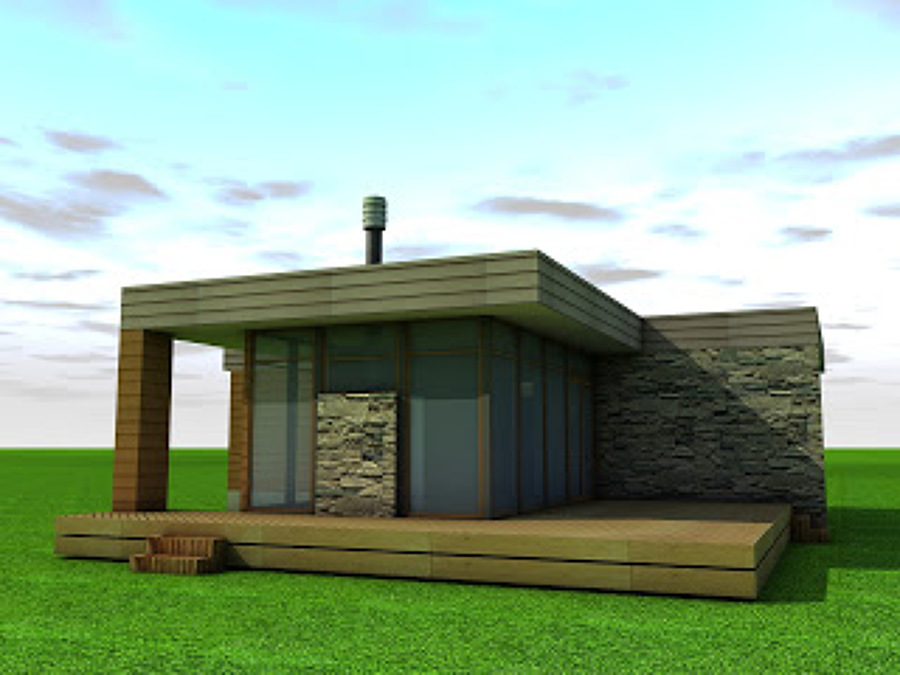 Casa prefabricada estructura metalcom estilo - Presupuesto casa prefabricada ...