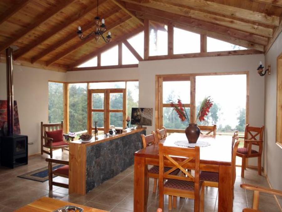 Construcci n de caba a prefabricada en madera puc n - Cuanto cuesta una casa de madera ...