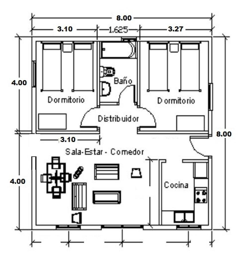 Plano y presupuesto para construcci n de casa concepci n for Presupuesto construccion casa