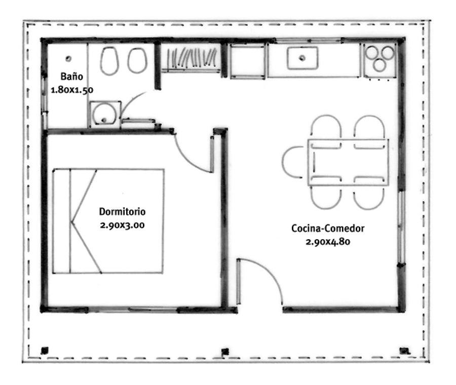 Construir vivienda de dos pisos pitrufqu n regi n ix la for Plano habitacion online