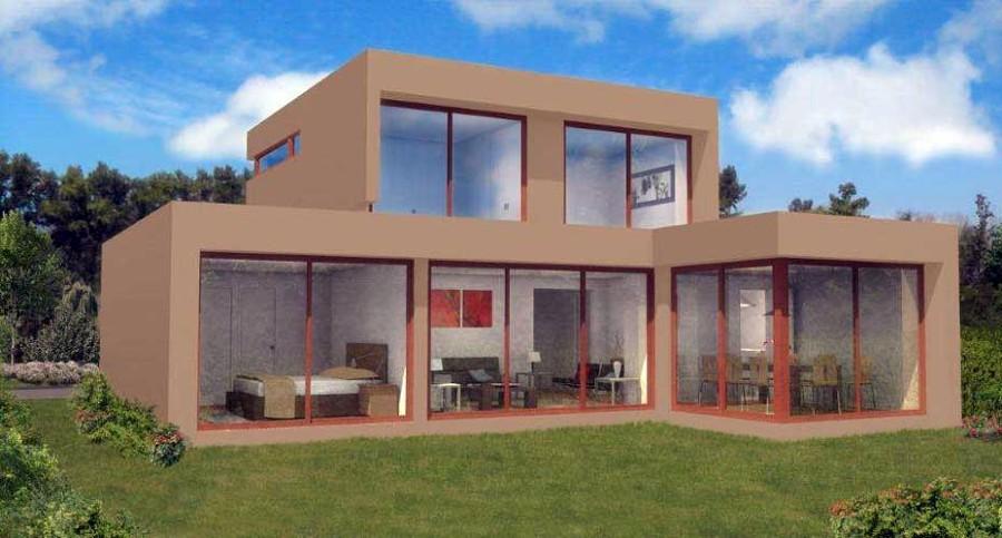 Casa modelo cubo mediterr neo 2 pisos m x 130 metros - Casas cubo prefabricadas ...