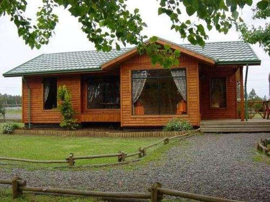 Una casa o caba a 82 mts 2 con estilo pitrufqu n regi n - Cuanto cuesta una casa de madera ...