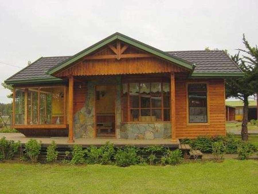 Casa r stica de madera y piedra 250 m2 maip regi n - Casas prefabricadas de piedra ...