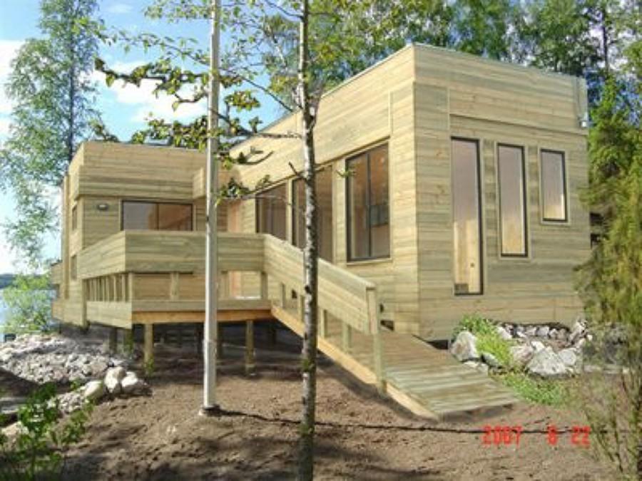 Casas prefabricadas madera casas prefabricadas 4 region - Como hacer una casa prefabricada ...