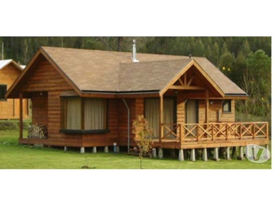 Construcci n casa estilo caba a kilometro 14 camino a - Cabanas casas prefabricadas ...
