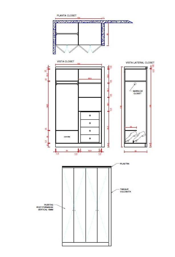 Hacer un closet a medida para un dormitorio en for Diseno de closet medidas