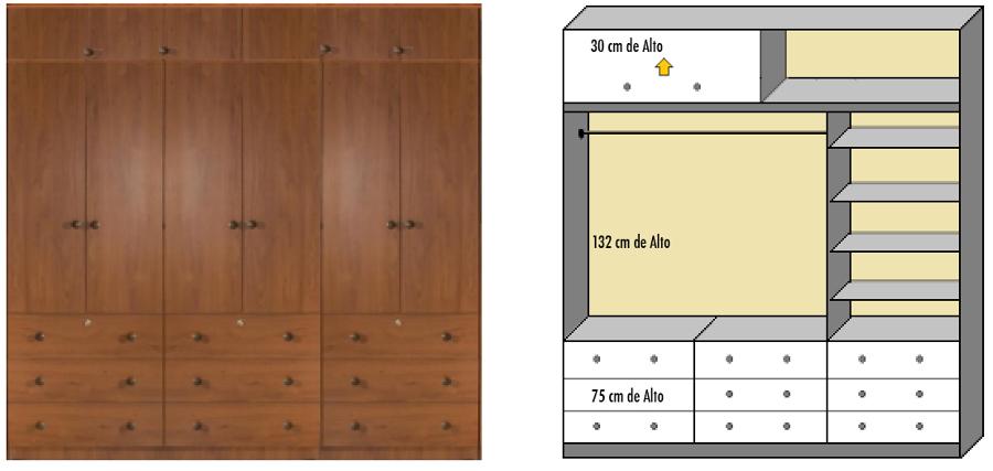 Cotizaci n closet a medida dormitorio foto del dise o for Closet de madera para dormitorios