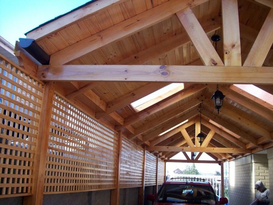 Construcci n cobertizo en madera pudahuel regi n - Cobertizos para jardin ...