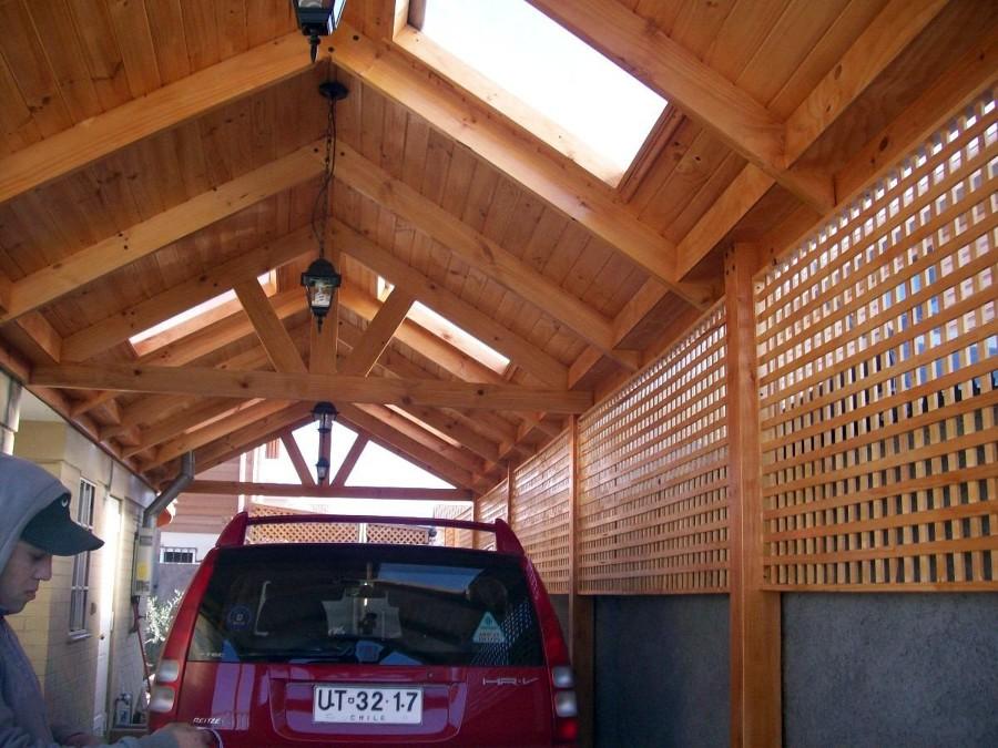 Construcci n cobertizo en madera pudahuel regi n for Casas con cobertizos
