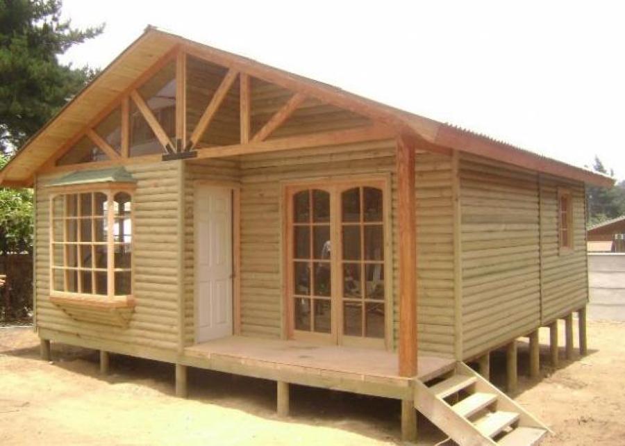 Construir una caba a peque a 42 m de madera loanco for Precios de cabanas prefabricadas