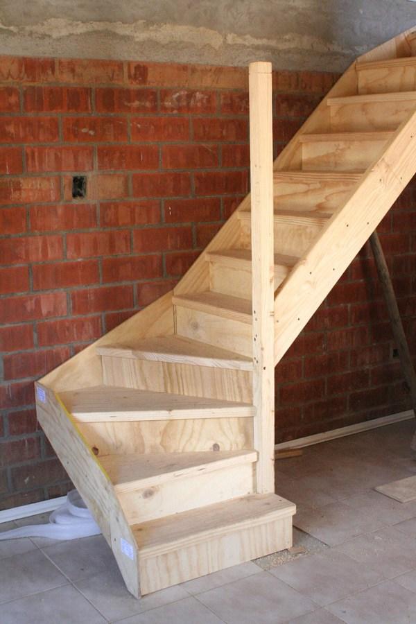 Construir escalera de madera puente alto regi n for Escalera de madera para entrepiso