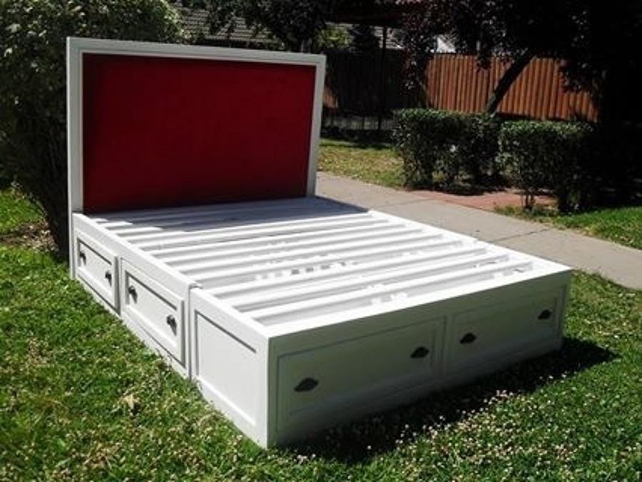 Construir dos camas con cajones abajo for Como hacer una cama alta de madera