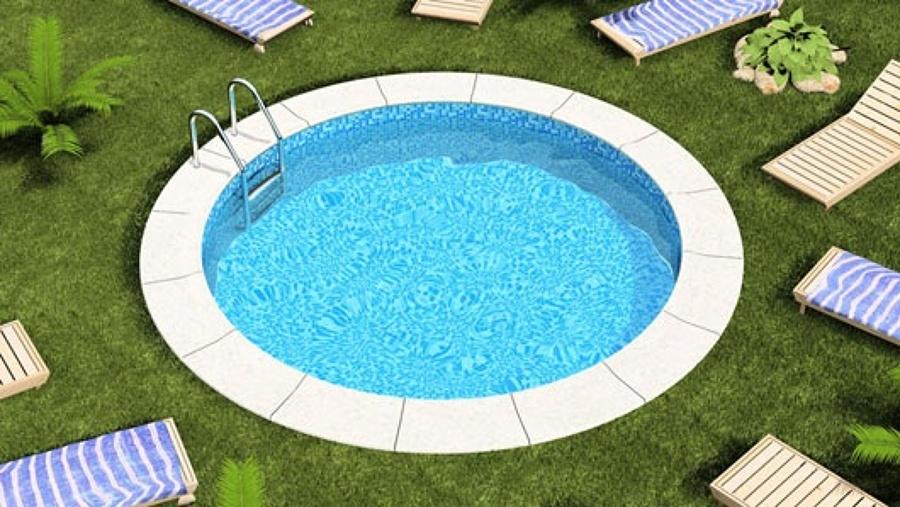 Una piscina redonda de juegos 3 metros de longitud y 50 cm for Piscina 50 metros sevilla