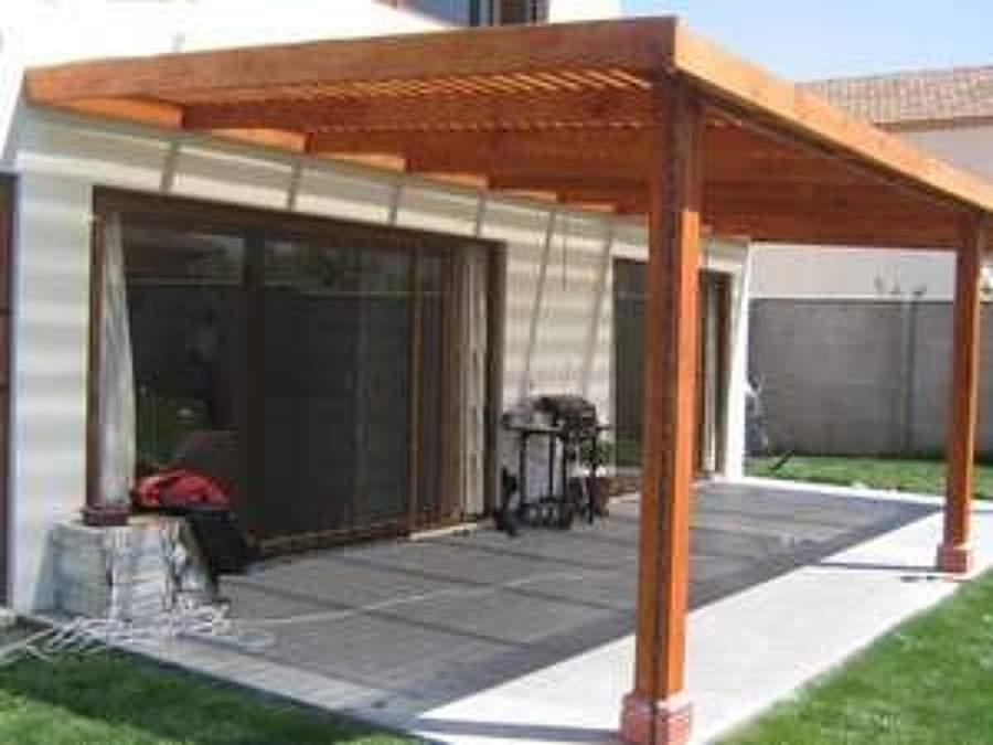 Construcci n p rgola de madera y deck piscina valpara so - Construccion de pergolas de madera ...