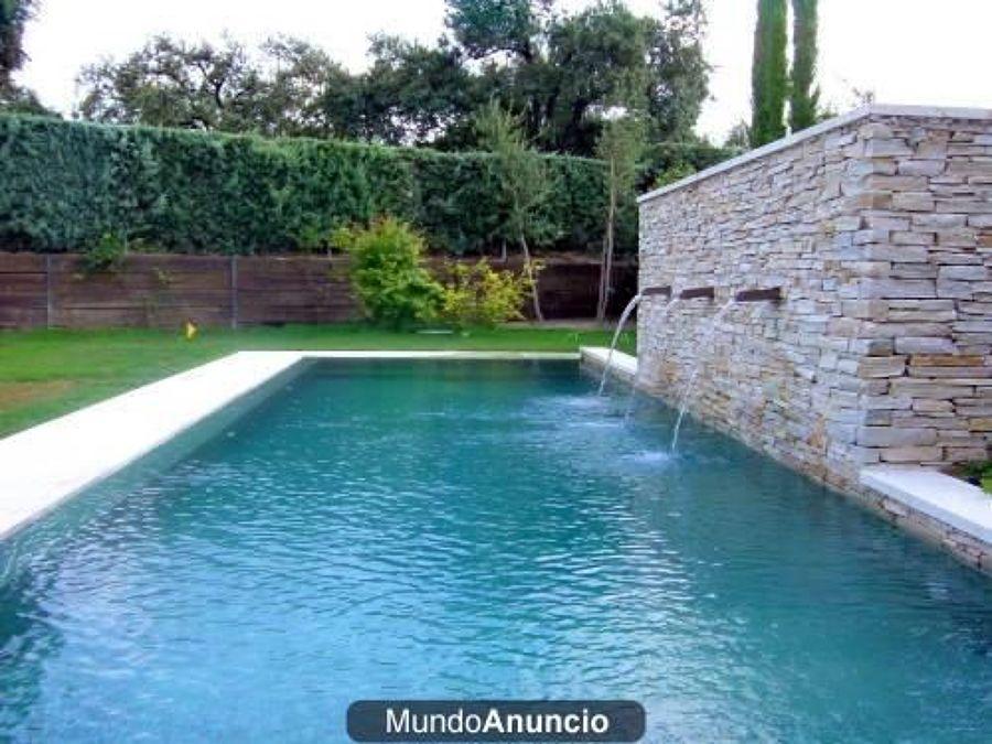 Pin cascadas y piscinas artificiales en matur n su espacio for Cascadas artificiales en piscinas