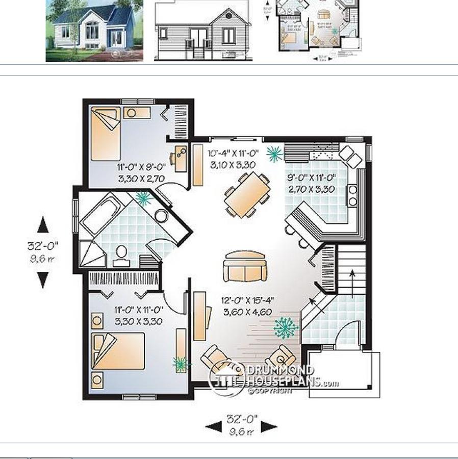 construir casa con idea de planos aprox 80 metros