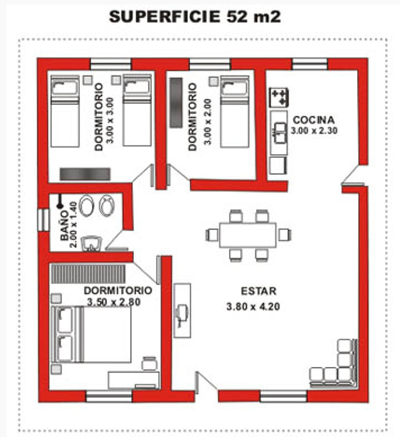 Casa prefabricada quemchi chilo 52 m2 quemchi regi n - Construir casa prefabricada ...
