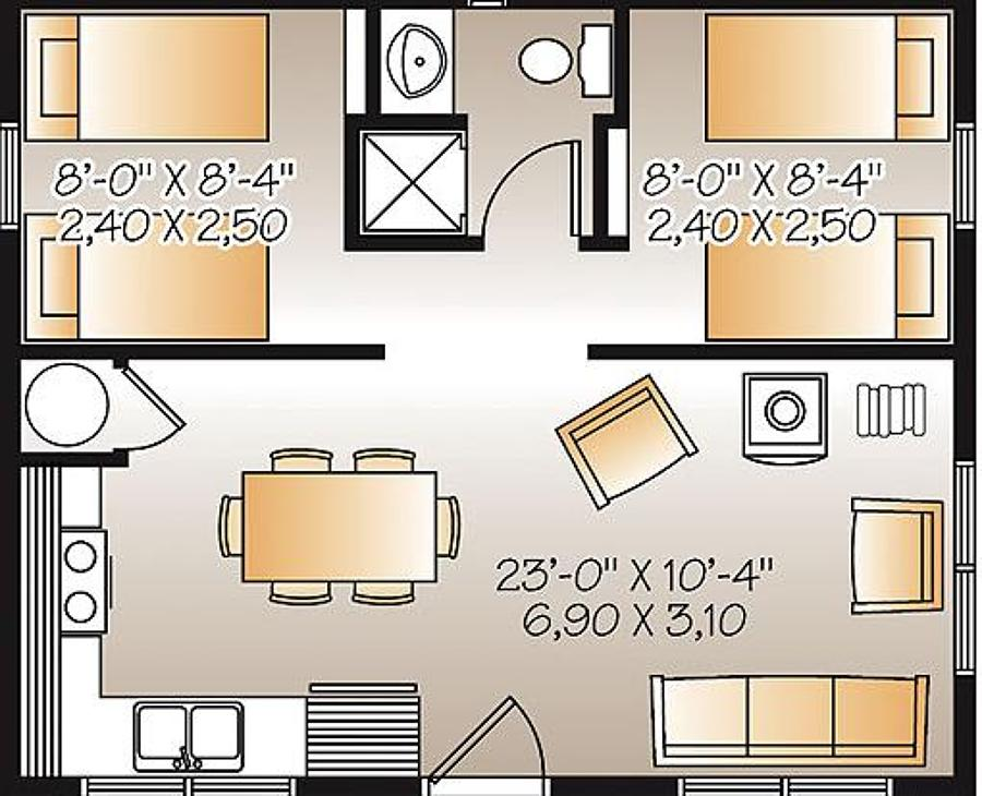 Construir casa dispongo de sitio 30 frente x 40 largo for Casas modernas de 80 metros