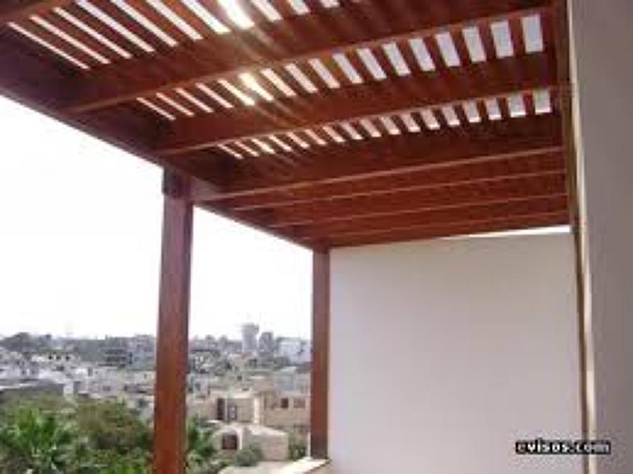 Construcci n de un cobertizo para terrazas 6 de largo for Cobertizos economicos