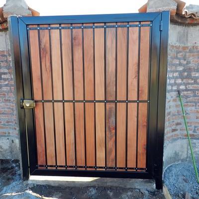 Presupuesto porton de madera de corredera y aparte una - Hacer una puerta corredera ...