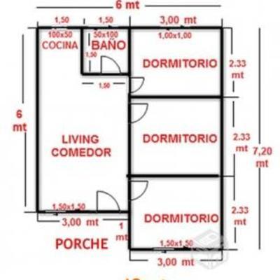 Necesito construir una casa de 42 metros cuadrados for Cuanto es 35 metros cuadrados