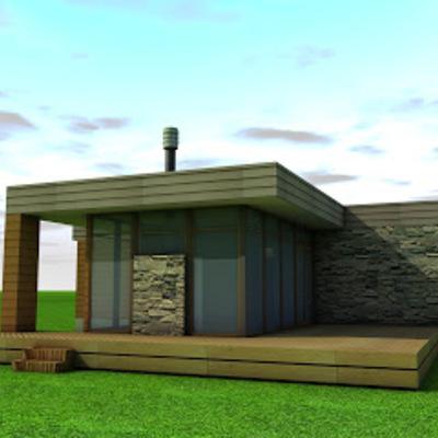 Casa prefabricada estructura metalcom estilo - Precio estructura casa ...