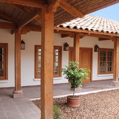 Construcci n casa en el campo de colbun linares de for Construccion casas de campo