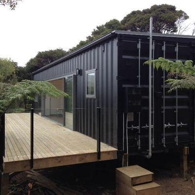 Construcci n de casa con containers quilpu regi n v for Casa container costo