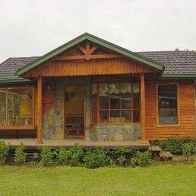 Casa r stica de madera y piedra 250 m2 maip regi n for Casas de piedra y madera