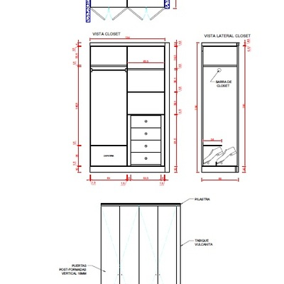 Hacer un closet a medida para un dormitorio en for Closet a medida